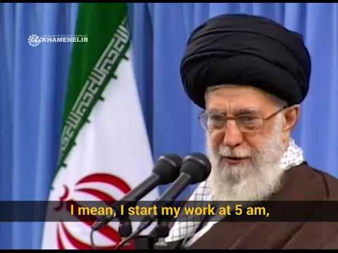 Ayatollah Khamenei\\\'s daily work schedule - Farsi sub English
