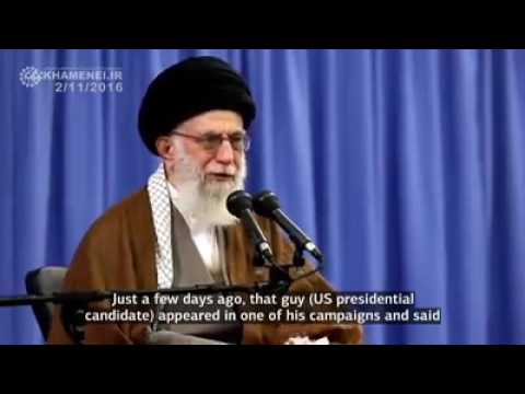 Ayatollah Khamenei :- Death to America - means death to a system - Farsi sub English