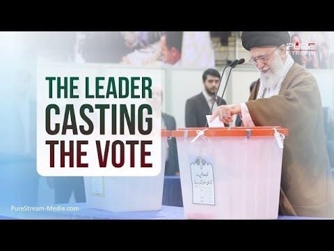 The Leader Casting the Vote | Farsi sub English