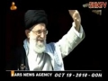 Allahu Akbar Khamenei Rahber - Welcome by people of Qom - 19 Oct 2010 - All Languages