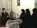 حضور رهبر انقلاب در منزل شهید شهریاری - 4/11/1389 - Farsi