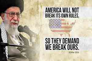 America will not break its own rules, so they demand we break ours   Leader of the Muslim Ummah   Farsi sub English