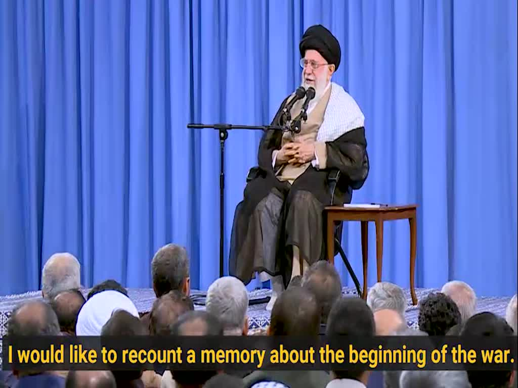 [Clip] Ayatollah Khamenei\'s anecdote of his first time in the war fronts - Farsi sub English