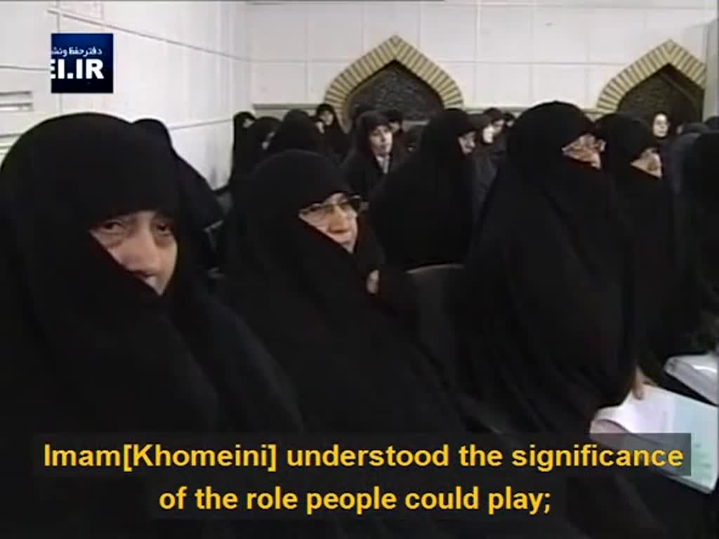 [Clip] Why did Imam Khomeini approve of women's participation in the struggles for the Revolution? - English