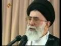 Rehbar e Moazzim praying for President Ahmadinejad - Persian