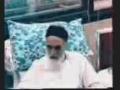 Ayat. Khamenei and Ayat. Rafsanjani visiting Ayat. Khomeini