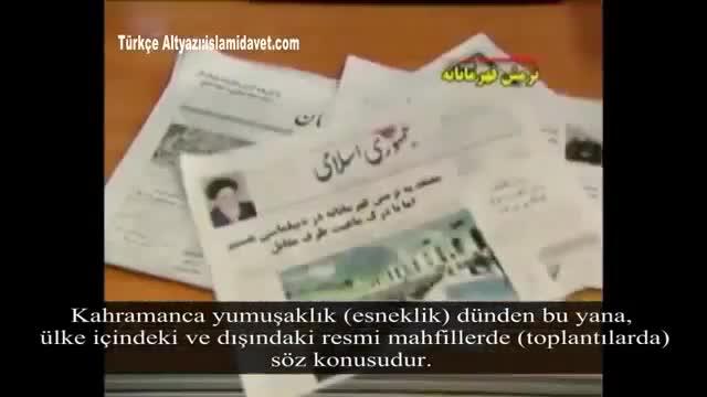 Diplomasi kahramanca yumuşaklık meydanıdır - Farsi Sub Turkish