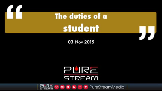 The duties of a Student by the Leader - Farsi sub English