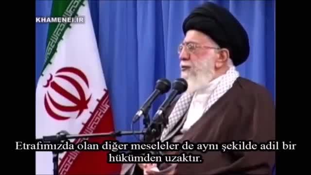 Rehber Seyyid Ali Hamaney Küresel İstikbarın Bahreyn, Yemen ve Suriyedeki Zalim Tutumunu Anlatıyor - Farsi Sub Turki