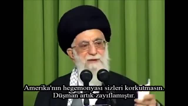 Rehber Seyyid Ali Hamaney : Dünya İstikbarı Tarihindeki En Zayıf Durumundadır. - Farsi Sub Turkish