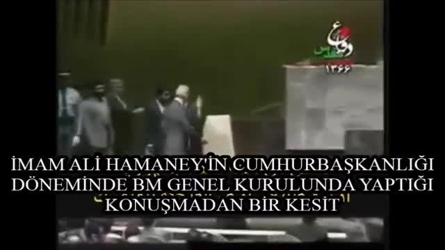 Rehber Ali Hamaney\'in BM Genel Kurulundan Büyük Şeytan\'ı Kaçırtan Konuşması... - Farsi Sub Turkish