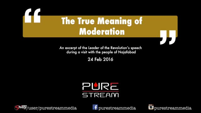 The True Meaning of Moderation | Leader of the Muslim Ummah | Farsi sub English
